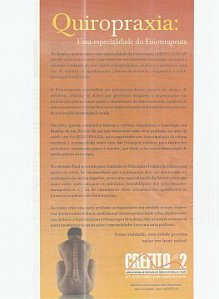 Advertisement claiming chiropractic is a specialty of physical therapy, and placed in Brazil's national newspaper The Globe in February by Brazilian physical therapists.
